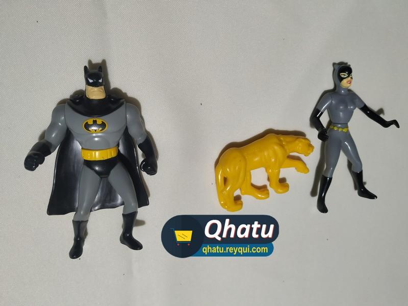 (Bs. 45) Figuras originales de Batman y Batichica de 10cm