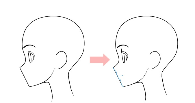 menggambar mulut anime