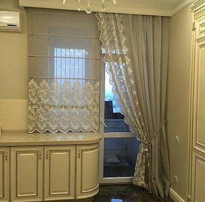 modern window curtain designs for kitchen 2019