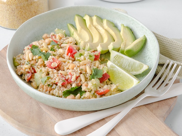 Leckerer und gesunder Bulgur Salat