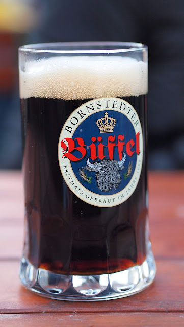 Pint of Bornstedter Dunkel beer