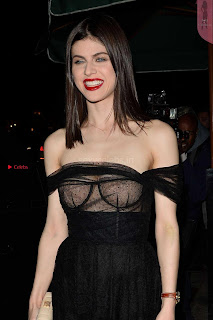 Alexandra Daddario Showing off her  in transparent top at Dior Addict Lacquer Pump Launch ~ Celebs.in Exclusive 009.jpg