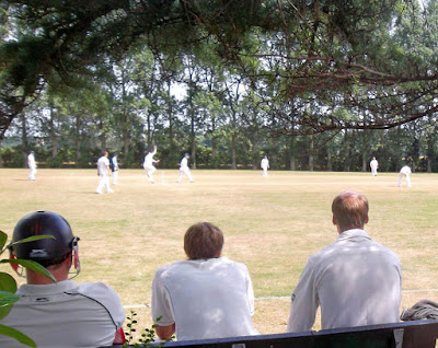 Watching the cricket at Brigg Recreation Ground - picture on Nigel Fisher's Brigg Blog