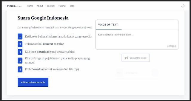 download suara google indonesia
