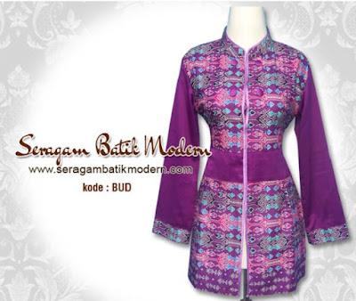 Model Baju Batik Guru Muslimah Terbaru
