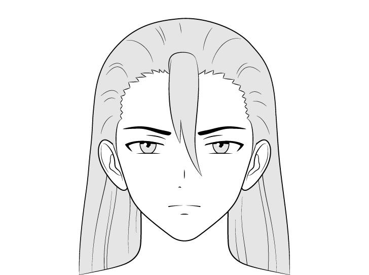 Gambar wajah pria penjahat anime