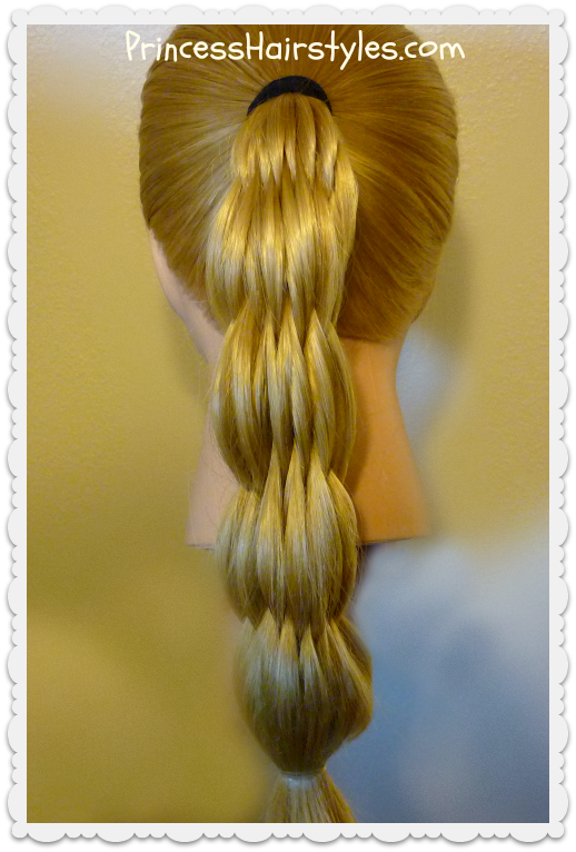 Multi Strand Pull Through Ponytail Hairstyles For Girls