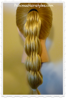 Multi-strand pull-through ponytail, hair tutorial.