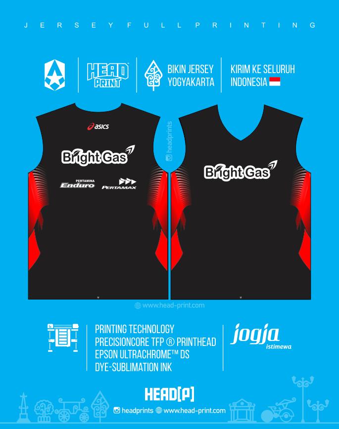 Bright Gas Jersey Voly Volley Contoh Desain Jersey Voly - Badminton Jersey - Futsal Jersey - Headprint Yogyakarta