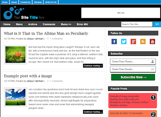 My Blogger Blog Blogger Template