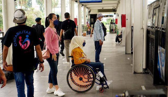 Kampanye Transportasi Umum Ramah Disabilitas di Moment Hari Perhubungan Nasional