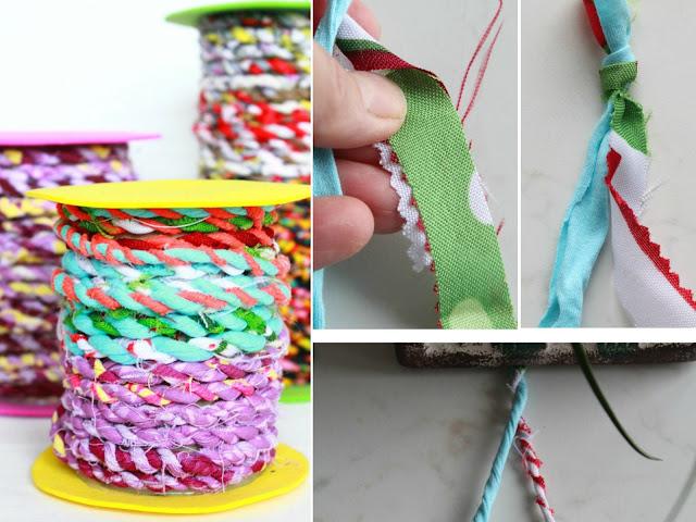 como hacer hilos de tela, de plastico y de papel
