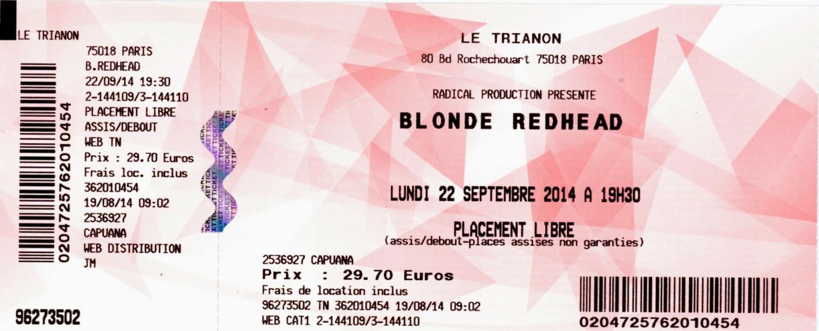 Redhead ticket Blonde