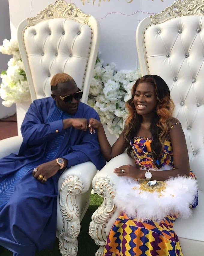 Photos and videos from the traditional wedding of Medikal and Fella Makafui