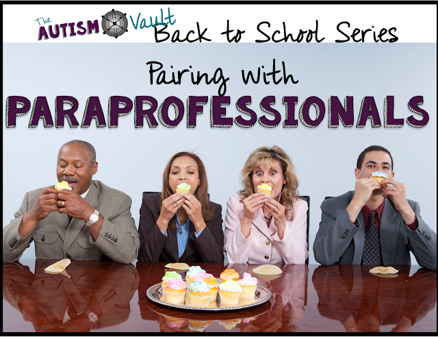 Just as pairing with our students with autism is a crucial with our students, it's also vital to pair with our paraprofessionals.  Read about how you can pair with paras in order to start the school year off right.