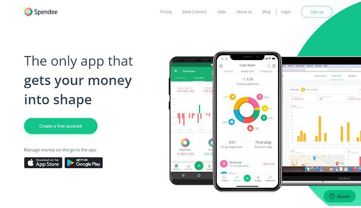 Spendee - aplicación de ahorro