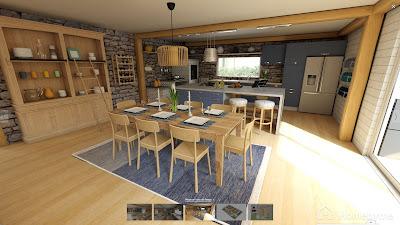 Diseño interior de comedor