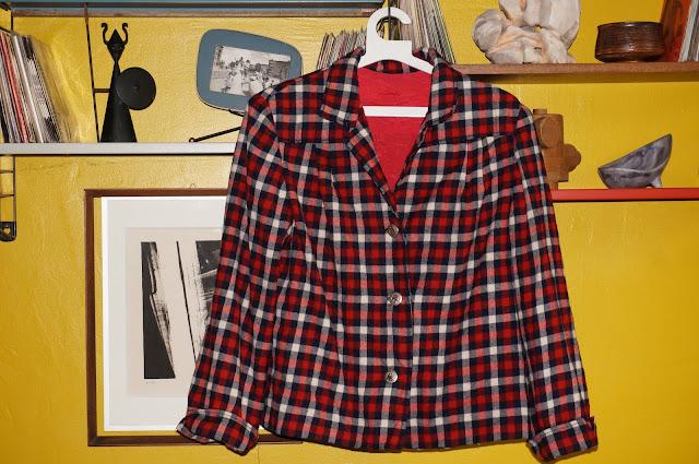 50s wool plaid jacket 1950s années 50 vintage veste