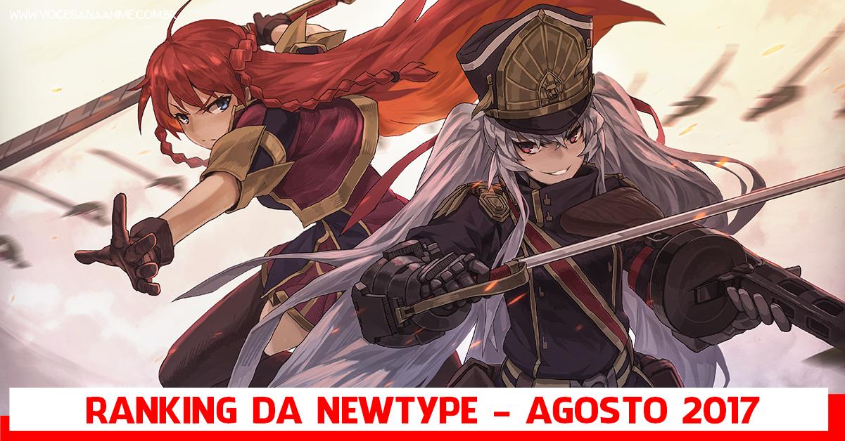 Re:Creators dominando o Ranking de Agosto da Newtype