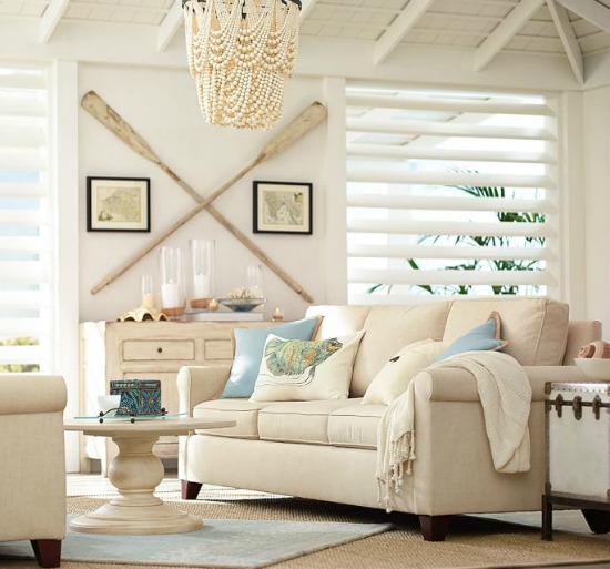 Pottery Barn Catalog Sandy Beige Living Room