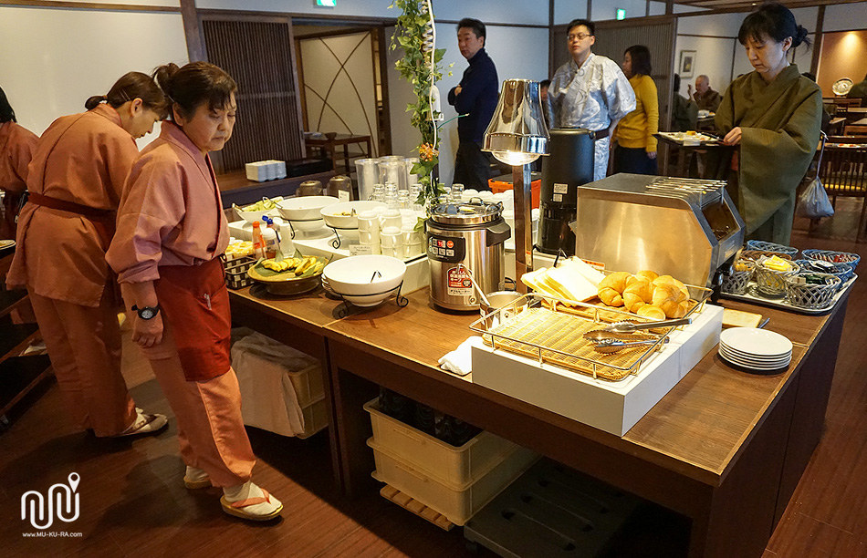 อาหารเช้า Takaragawa onsen
