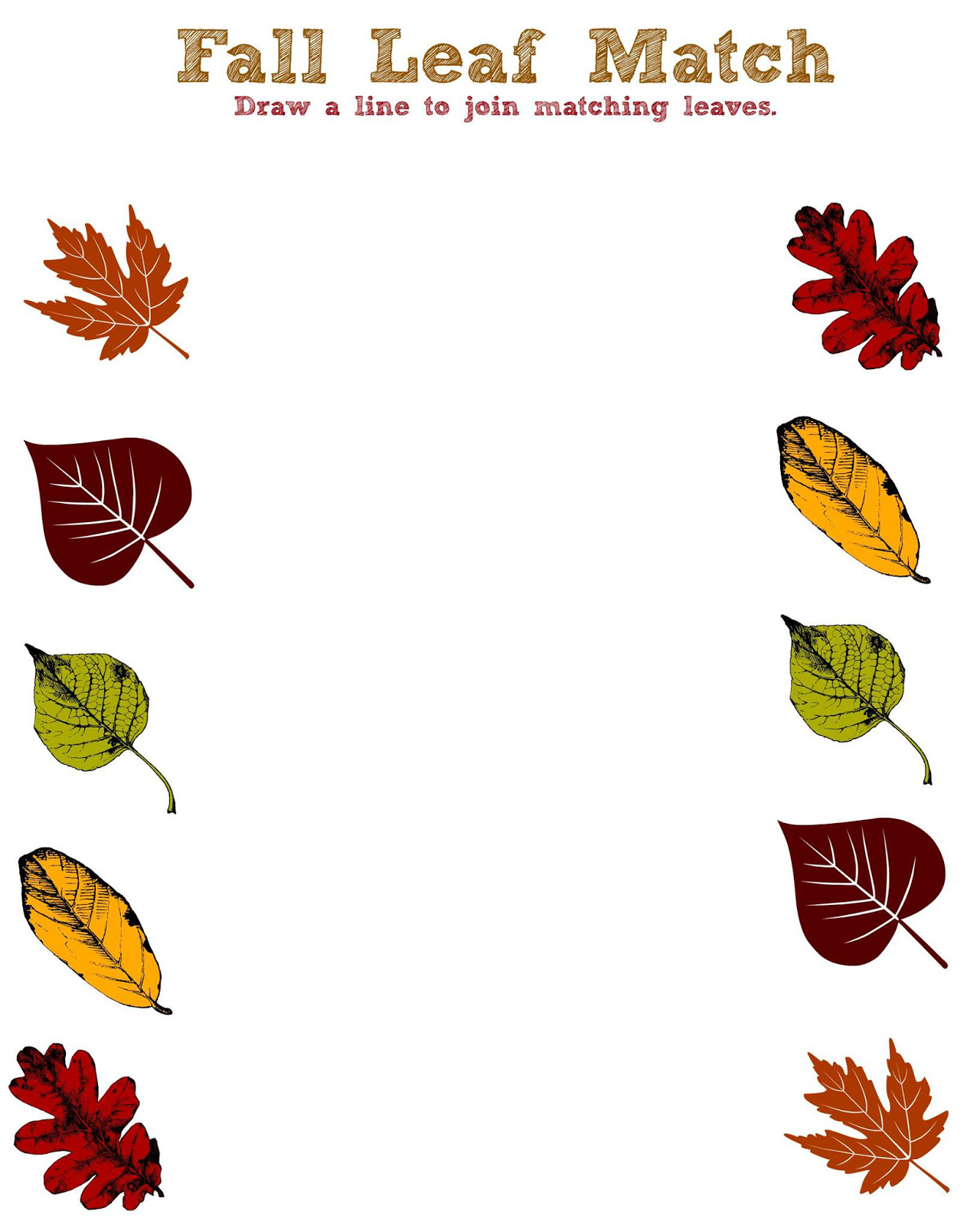 Fall Fun Printables For Toddlers