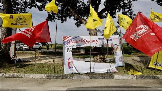 Andi Arief Sebut Aktor Dibalik Perusakan Atribut Demokrat Caleg PDIP Kota Pekanbaru