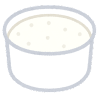 カップのアイスクリームのイラスト(バニラ)