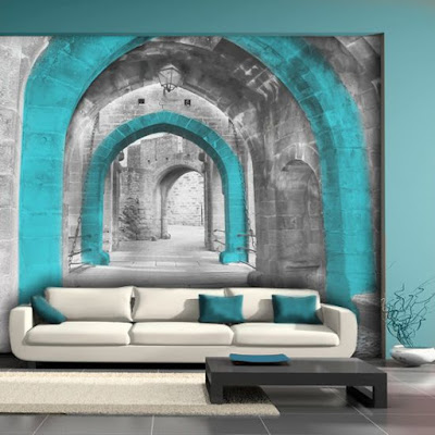 3D effect wallpaper mural and wall art for sofa wall
