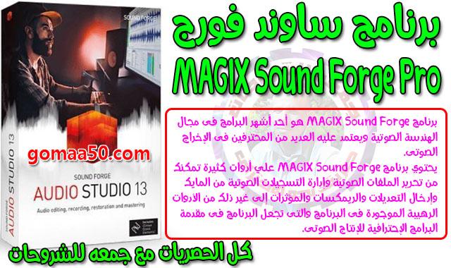 برنامج ساوند فورج 2019  MAGIX Sound Forge Pro 13.0.0.48