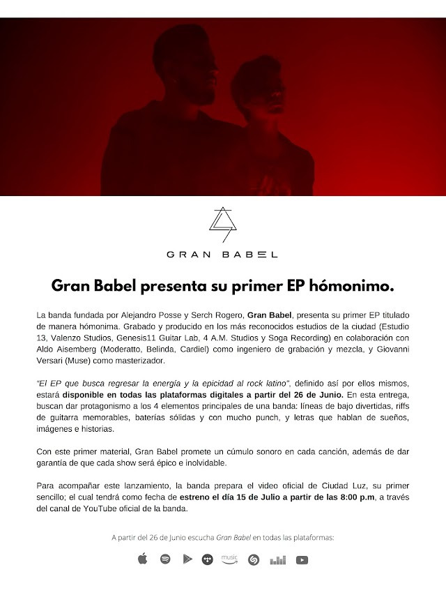 Gran Babel presenta épico EP.