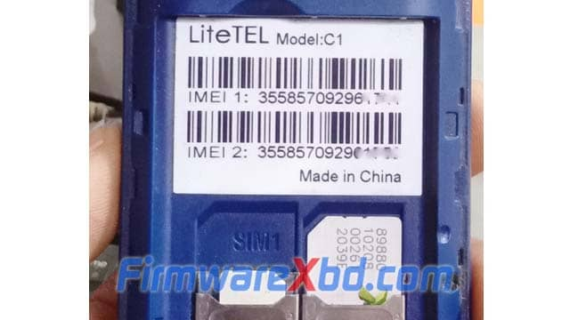 LiteTEL C1 Flash File Download Without Password