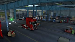 ets2 mods, recommendedmodsets2, Frkn64's Modern Garage Mod, euro truck simulator 2 mods, ets2 realistic mods, ets 2 modern garage mod v1.3 screenshots