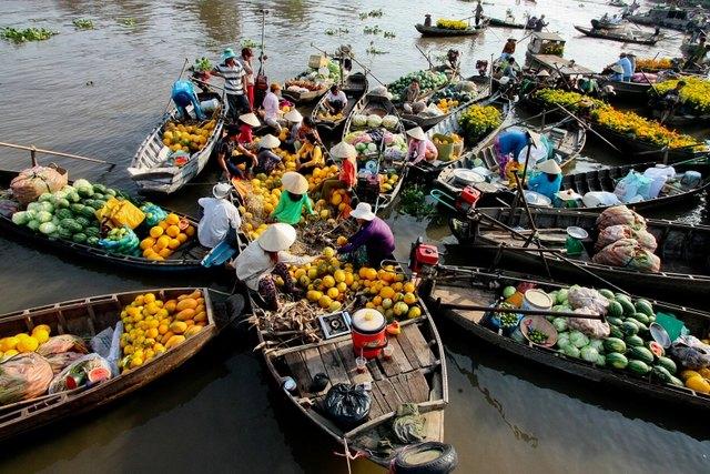 Mercado Flotante de Cai Rang (Vietnam)