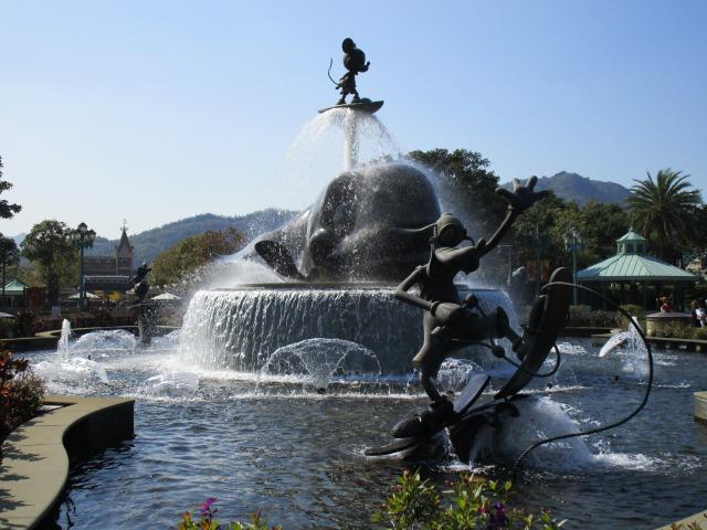香港ディスニーランド 噴水