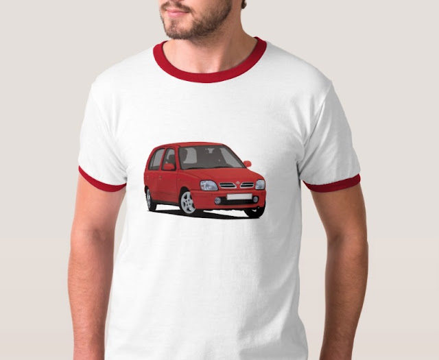 Car T-shirts, Nissan Micra or March