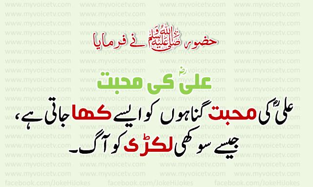 #AchiBaat - Ali ؓ  say muhabbat ka faida ... must share this post