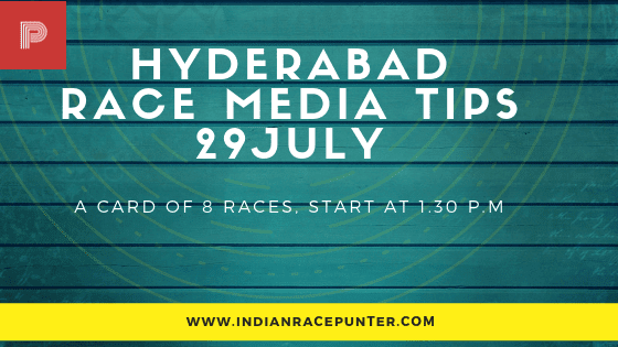 Hyderabad Race Media Tips 29 July, free indian horse racing tips, trackeagle, racingpulse