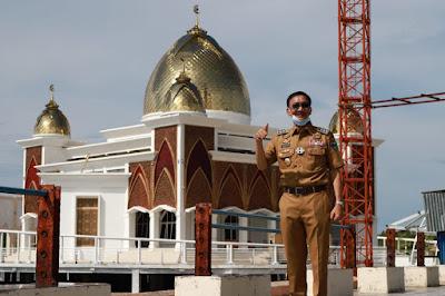 """Masjid Terapung """" Samudera Ilahi""""  Diresmikan Jumat Mendatang."""