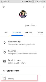 okgoogle phone setting