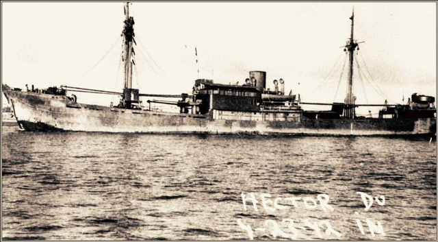 Dutch freighter Hector, sunk by U-103 on 24 May 1942 worldwartwo.filminspector.com