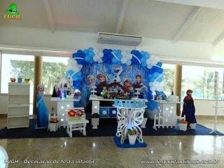 Decoração de aniversário, mea decorada provençal Frozen