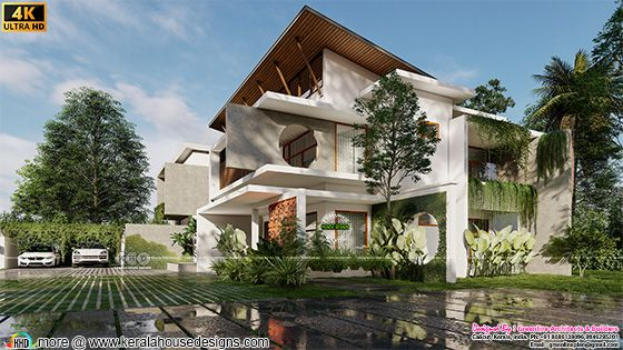 tropical contemporary style house