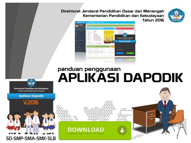 Download Panduan Penggunaan Aplikasi Dapodik Versi 2016 Ditjen Dikdasmen Kemendikbud