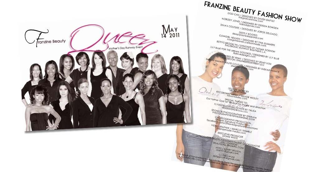 Franzine Beauty Fashion Show Program Design 2011