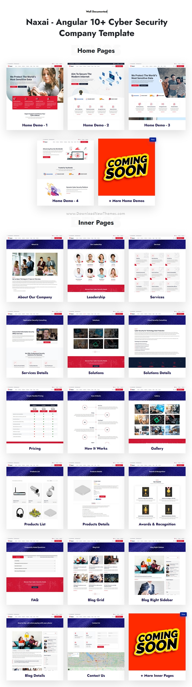 Angular Cyber Security Agency Template