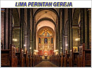 LIMA PERINTAH GEREJA