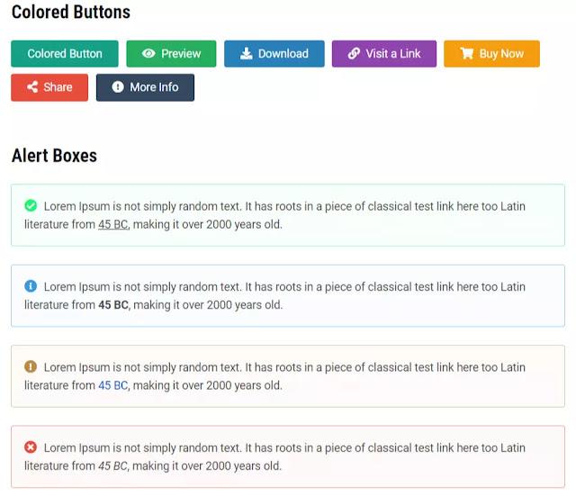 shortcodes-Gnews-premium-blogger-theme