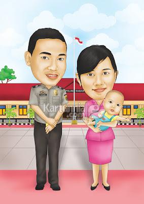 Karikatur Keluarga Polisi