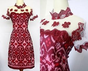 Contoh Dress Batik Modern